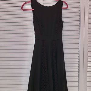 Black XS Lace Detail Dress